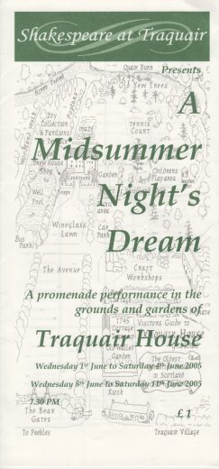 A Midsummer Night's Dream Programme