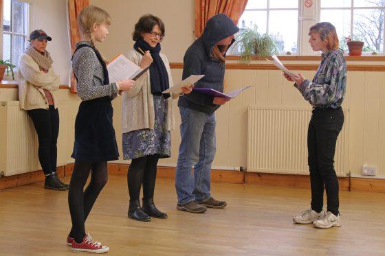 Indoor rehearsals