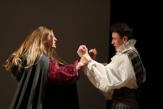 Macbeth and Lady Macbeth argue