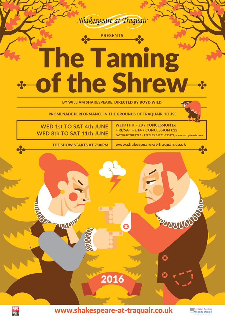 the taming of the shrew a This zesty version of william shakespeare's classic comedy, set in padua, italy in the late 1500s, concerns the shy bianca and the mean-spirited katarina though bianca is being courted by a.