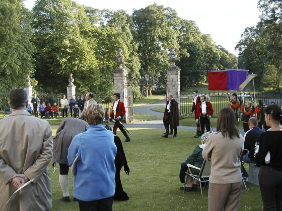 Much Ado About Nothing - Traquair House courtyard