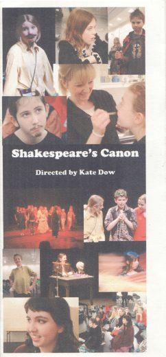 Shakespeare's Canon Programme