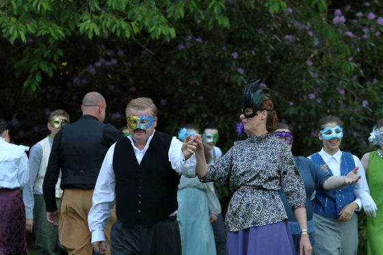 Beatrice and Benedick at the masked ball