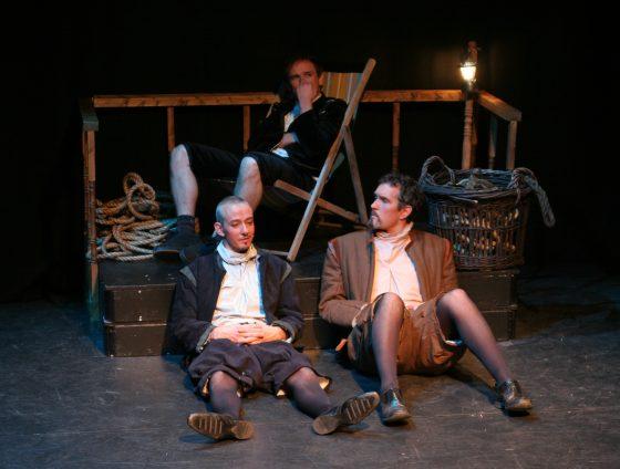 Rosencrantz, Guildernstern and Hamlet asleep
