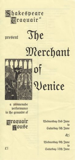 The Merchant of Venice programme