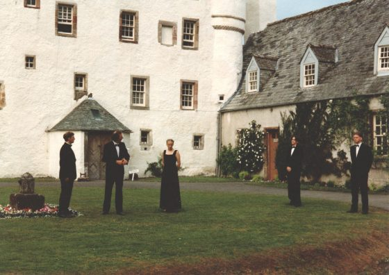 Traquair's courtyard