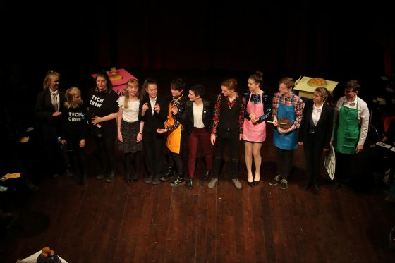 The cast taking their bows at the Eastgate Theatre, Peebles